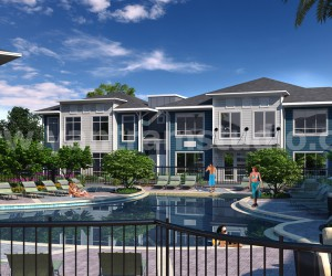 A complete set of a entire community for 3D exterior rendering presentation