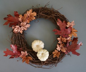 A DIY Fall Wreath with Metallic Shine