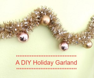 A DIY Metallic Holiday Garland