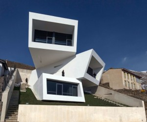 A-House is Formed by Three Overlapping Boxes