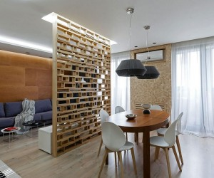 A Lesson in Delineating Space without Walls: Modern Apartment in Ukraine