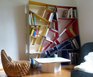A Modern Alucobond Bookshelf Designed in Grasshopper