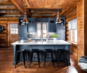 A Rustic Log Cabin in Canadian Cottage Country
