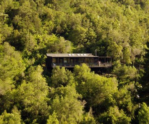 A Stunning Mountain Lodge Perched Atop a Valley in Chile