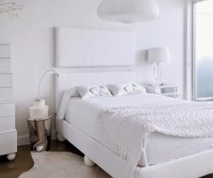 A warm all-white design