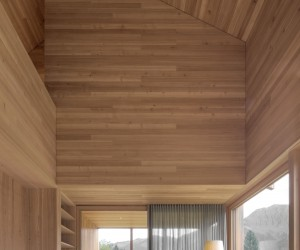A Wooden Home in the mountainous Vorarlberg region of Austria