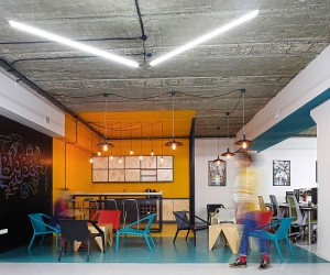 A World of Color and Creative Design: Modern Industrial Office in Armenia