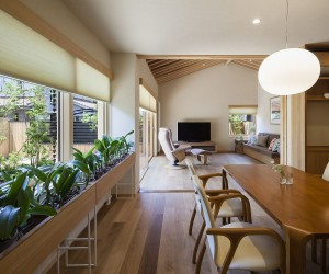 A World of Contrasts: Modern Japanese Home for an Elderly Couple