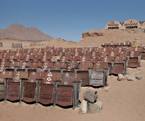 Abandoned Outdoor Movie Theater in the Desert of Sinai