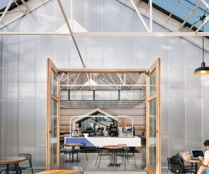 Adaptive Reuse Turns an Automobile Warehouse in Austin into a Dashing Caf