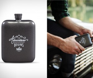 Adventure Travel Hip Flask