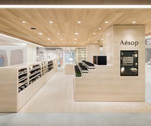 Aesop NEWoMan Shinjuku store by Torafu Architects