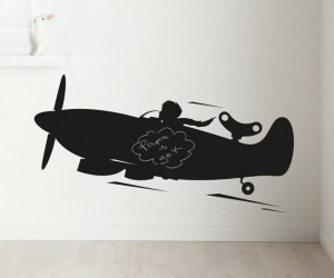 Airplane Chalkboard Wall Sticker