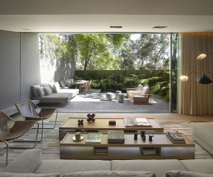 Airy Homes with Giant Glass Walls That Open to Courtyards