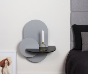 ALBA, Modular Shelf and Bedside Table with storage fully customized