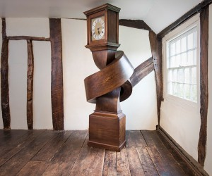 Alex Chinneck Knots An Antique Grandfather Clock