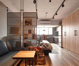 All About Space: Tiny Industrial Loft Style Apartment in Taipei City