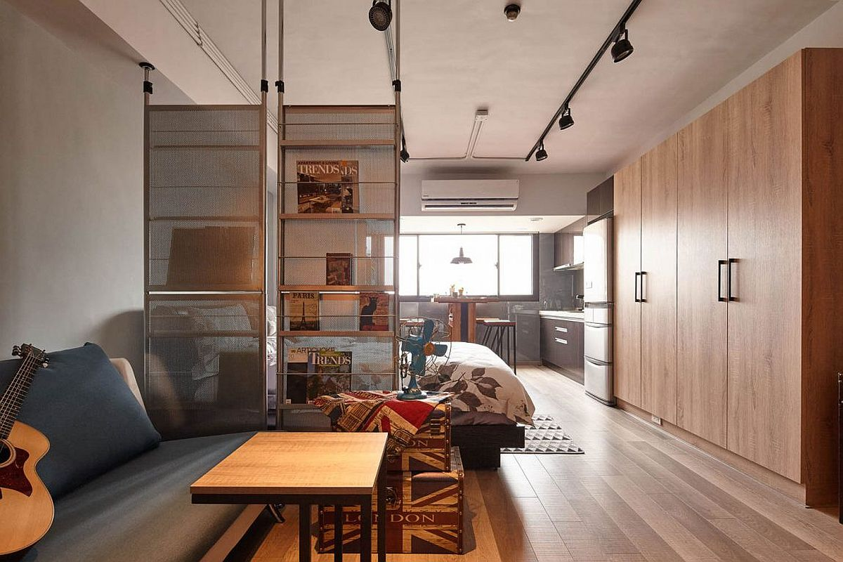 All About Space Tiny Industrial Loft Style Apartment In