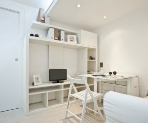 All white studio design in Milano