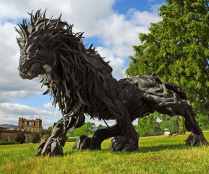 Amazing Animal Sculptures Created from Tires by Yong Ho Ji