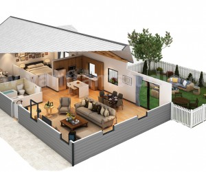Amazing Cut Section of Small Home Design, Ideas by Yantram floor plan designer Virginia, USA