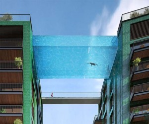 Amazing Glass-Bottomed Swimming Pool Will Bridge Two Buildings In London