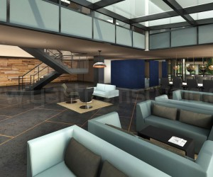 Amazing Office Lobby Interior Design View