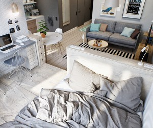 Amazing Space Maximization in a Cozy Studio Apartment