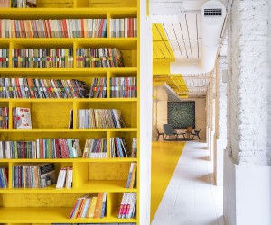 Amazing Use of Yellow for Office Interior: Meeting Space in Madrid