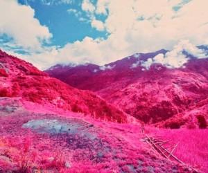 Annapurna Himalayan Range, Nepal in Psychedelic Hues