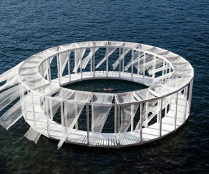 Antiroom II, Slef-Assembled Floating Pavilion in Malta