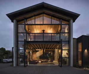 Anzac Bay House: Inspired by the Village Square with a Church