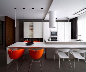 Apartment in Trendy Dark Colors