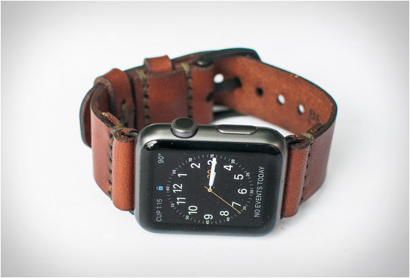 Apple watch leather strap for Violet leather strap watch