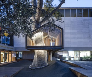 Architects Install a Tree House at the Israel Museum, Jerusalem