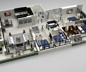 Architectural 3D Floor Plan | Interior Designer