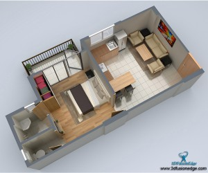 Architectural 3D Floor Plan Visualization