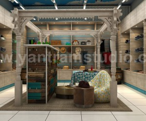 Architectural Commercial 3D Cloth Shop Interior Design Plans by Yantram Architectural Studio, Perth - Australia