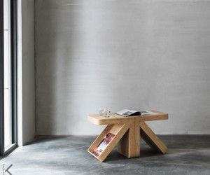 Arrow side table by Kozy for Living