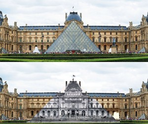 Artist JR Makes The Louvre Pyramid Disappear