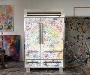 Artist paints refrigerator to make it the most expensive at 88,000