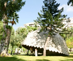 Atelier YokYok  Ulysse Lacoste built Paper Dome in Beirut
