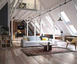 Attic design by Naim Soyalp
