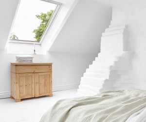 Attic Renovation ideas  White Apartment in Saltsjbaden
