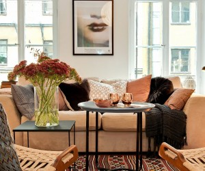 Autumn Accents in a Swedish Apartment