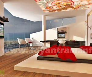 Awesome 3D Bedroom View Concept