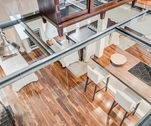 Awesome Glass Flooring and Scandinavian Beauty Shape Stockholms Attic Duplex
