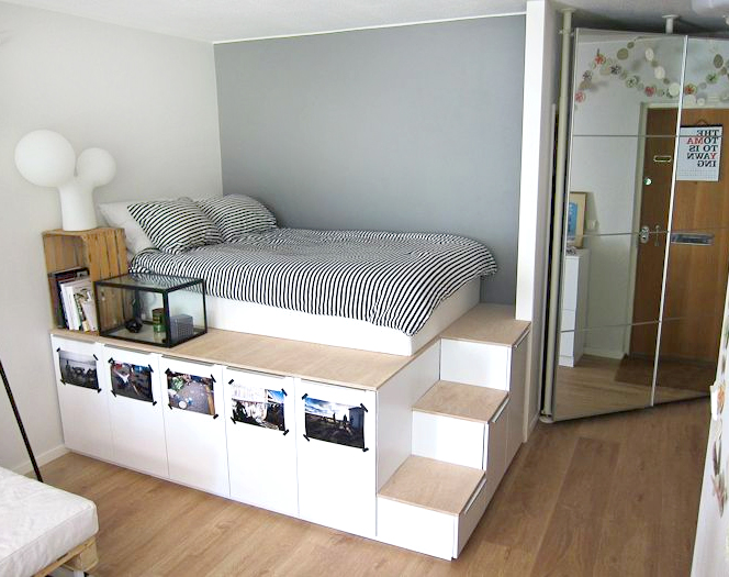 Bedroom Furniture Riyadh bed with storage