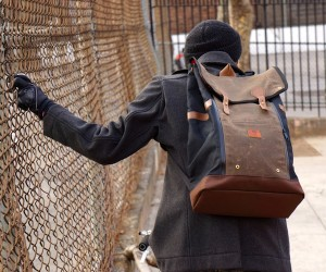 Babylon Backpack Navy  Brown