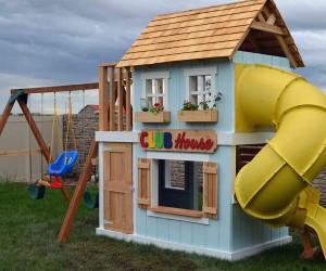 Backyard with Kids in mind  DIY Swing Sets